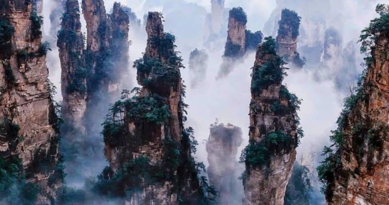 The Tianzi Mountains, China
